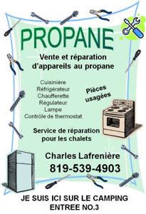 Vente et réparation d'appareils au gaz propane