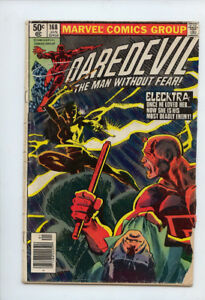 DAREDEVIL THE MAN WITHOUT FEAR #168 1ST APP OF ELECKTRA  VG 4.0