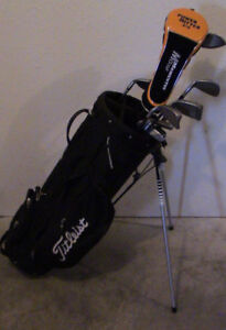 Golf Clubs and Titleist Bag