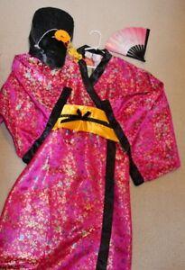 Girls M, 10-12 y.o. Geisha costume. Like New condition, 20$