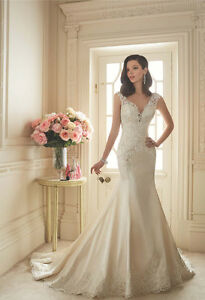 Sophia Tolli Lace and Satin Gown