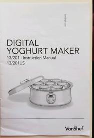 Vonchef yogurt maker