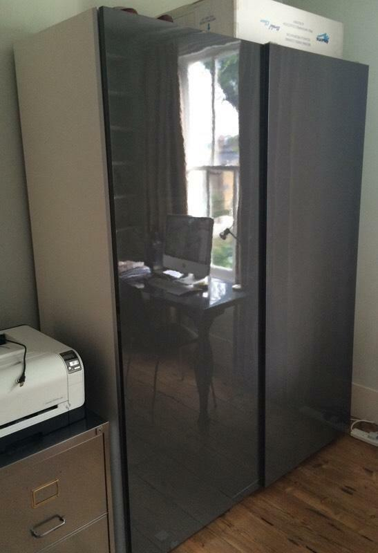 10 Kitchen And Home Decor Items Every 20 Something Needs: IKEA Pax 2 Wardrobe Frame With Gloss Grey Hasvik Sliding