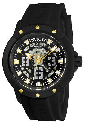 Invicta Objet d' Art 22632 Men's Round Analog Automatic Black Silicone Watch