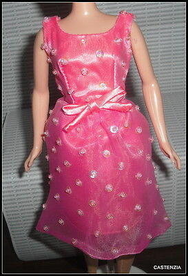 DRESS BREAKFAST AT TIFFANY'S BARBIE DOLL AUDREY HEPBURN PINK SEQUINS BEADS GOWN