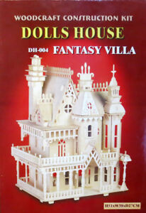 doll house 3D puzzle Fantasy Villa Open back by woodcraft
