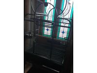 Large parrot cage with stand