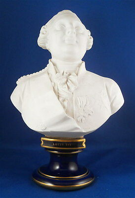 Great Sevres Porcelain Louis the 16th XVI Bust Husband Marie Antoinette French