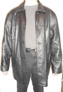 Men's Large 3/4 Length Leather Jacket Cornwall Ontario image 1