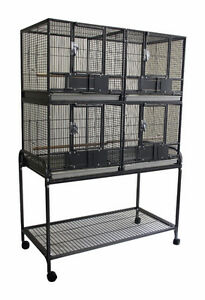 Deluxe Double Stacked Breeding Cage for Small Medium Bird