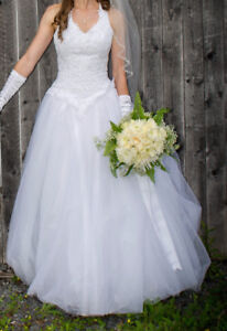 Beaded Tulle Princess Wedding Dress