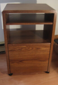 One Drawer Wood finish Filing Cabinet