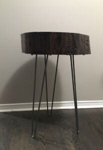 Hand crafted Live edge wood accent table