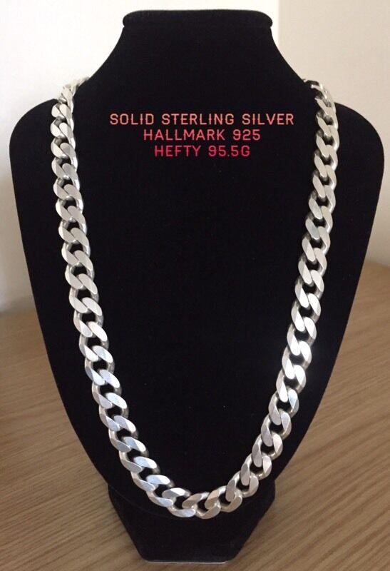 Solid Sterling Silver, 925 hallmark, hefty 95g! Excellent condition!