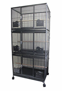 Triple Stacked Breeding Cage for Medium to Large Bird Parrot