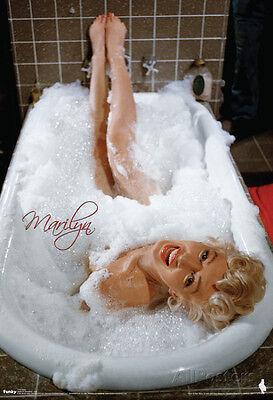 Marilyn Monroe Bubblebath Movie Poster Poster Print, 13x19