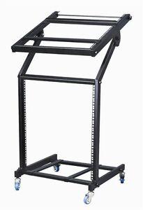 12u equipment 19 quot rack mount dj stand heavy duty top rack tilt ebay