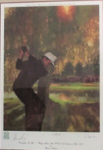 GARY PLAYER AUTOGRAPHED #'ed FRAMED PRINT BY BERNIE FUCHS