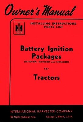 International Battery Ignition Package Operators Manual