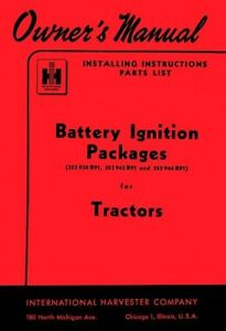 INTERNATIONAL-Battery-Ignition-Package-Operators-Manual