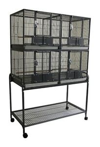 Deluxe Double Stacked Breeding Cag for Small Medium Bird