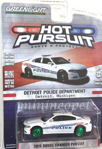 Greenlight 2015 Charger Pursuit  Detroit Police Green Machine