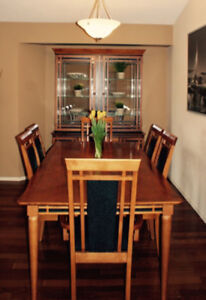 Dining room table 6 chairs and buffet cabinet