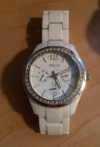White Relic by Fossil Watch- Womens