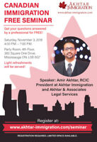 Free Canadian Immigration Seminar near Square One Mall