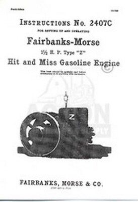 Fairbanks Morse Type Z 1 12 Hp Hit Miss Engine Manual