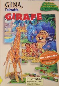 French - Children's Story Book with Puzzle - Gina