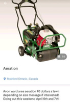 Lawn Aeration april 19th and 20th