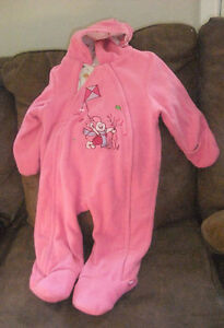 Adorable Pink PIGLET Girl Snowsuit