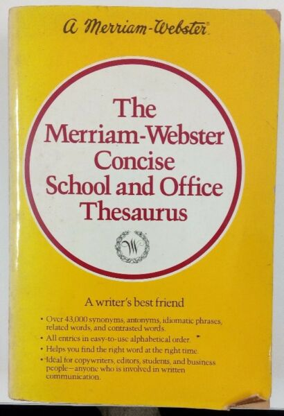 Book - The Merriam-Webster Concise School and Office Thesaurus