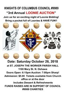 Knights of Columbus 3rd Annual Loonie Auction