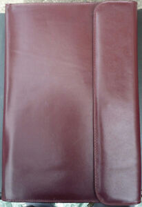 Genuine Leather Portfolios (zippered + clip-on). 3 STYLES.