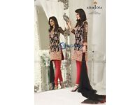 Asim Jofa first copy next to original CHIFON heavy embroidered unstitched wedding Eid amazing deal