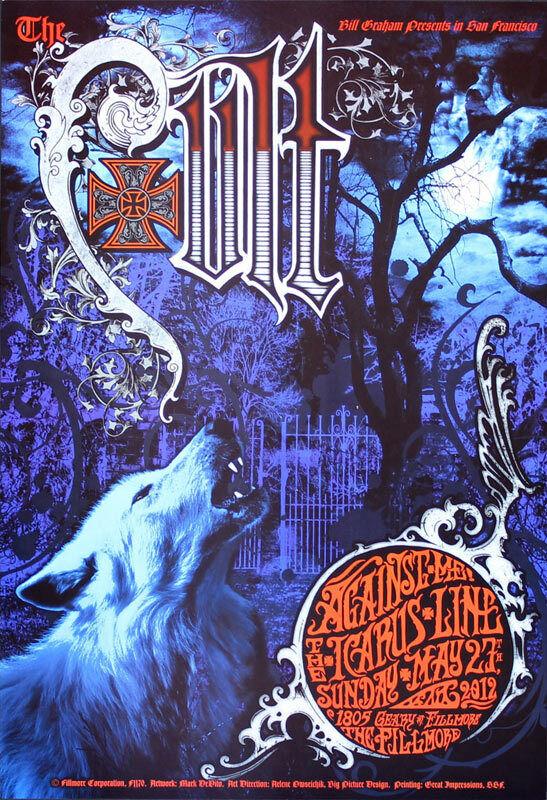 The Cult Against Me Icarus Line Fillmore SF 5/27/2012 Poster F1170 Mark DeVito