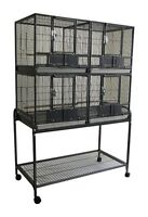 Deluxe Double Stacked Breeding Cage for Small Medium Size Bird