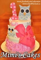 Book your beautiful custom cake and cupcakes now!