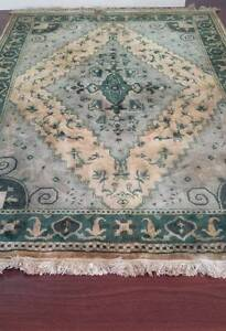 Large cotton rug in green and blue/grey tones Lilyfield Leichhardt Area Preview
