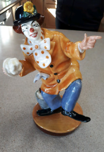 The Clown Royal Doulton Figurine, handmade in England-$85