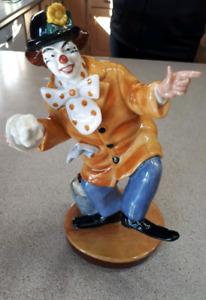 The Clown Royal Doulton Figurine, handmade in England-$85