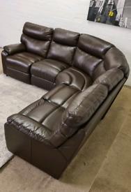 DFS ®️ - Italian Leather L-Shape Corner Sofa - Like New - ONLY £349!!!