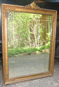 Antique Victorian Carved Wood Mirror
