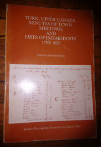 Early Toronto Records,Town Meetings & Lists of Inhabitants, 1793