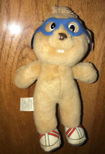 1987 Plush 8 Inch Simon Chipmunk Stuffed Plush Doll