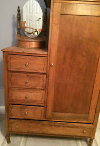 Antique Maple Cabinet / Dresser