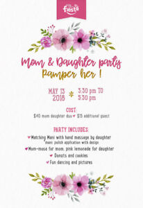 Mother & daughter party in Laval