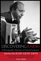 FUNDRAISER - Learning about Canadian icon YOUSUF KARSH